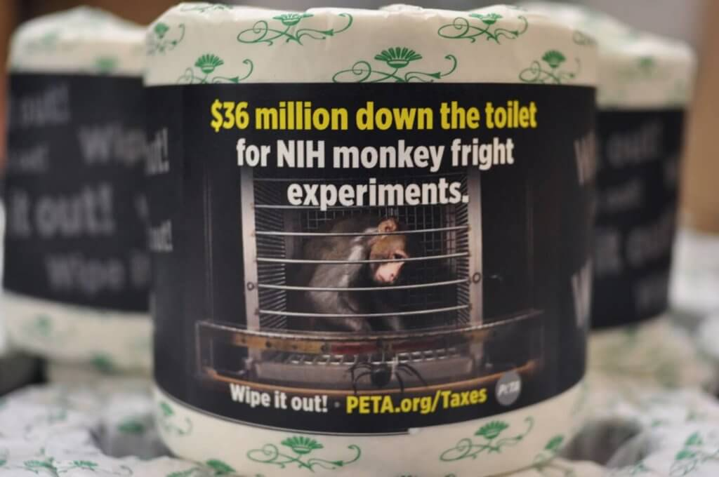PETA Sends Congress Toilet Paper Rolls