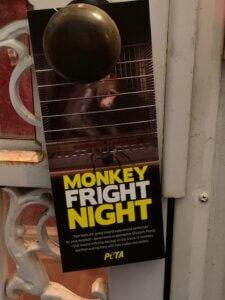 Monkey Fright Night Experiments Door Hanger