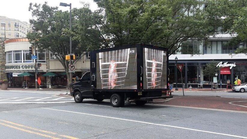 PETA Mobile Billboard Truck